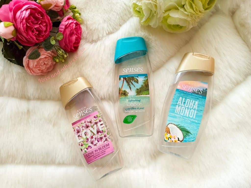 AVON Senses shower gels