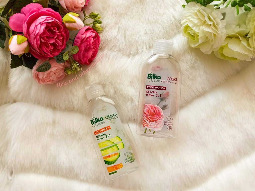 Bilka micellar waters with rose water and cucumber water