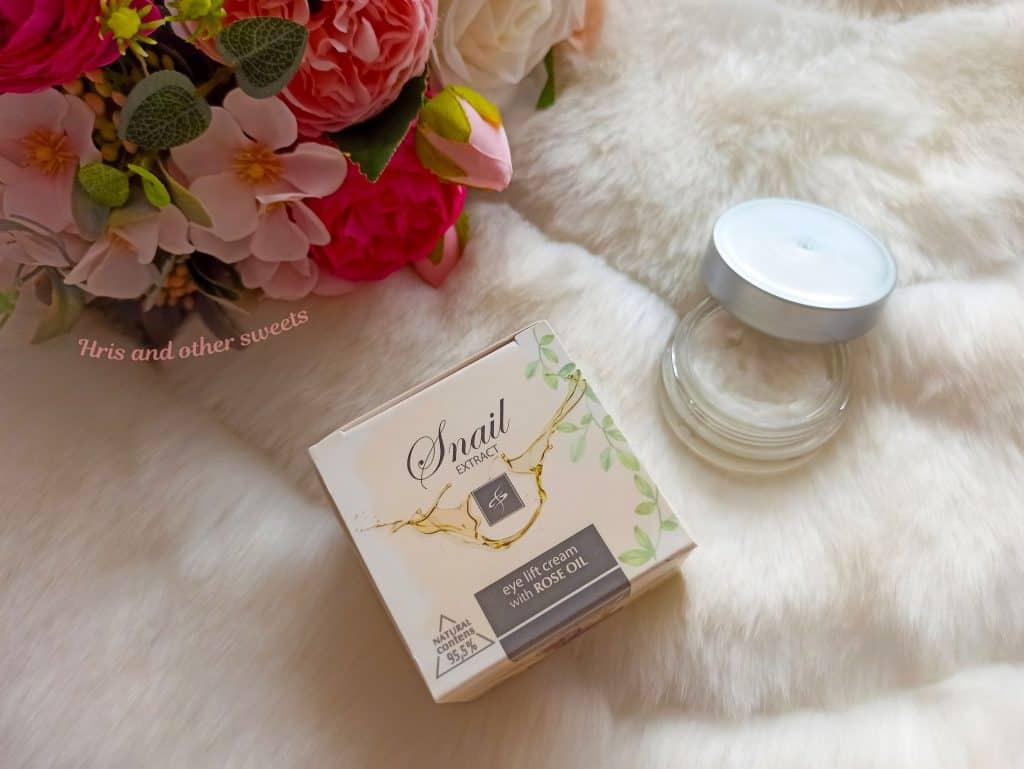 Фионна Козметикс околоочен крем с екстракт от охлюв и розово масло 2