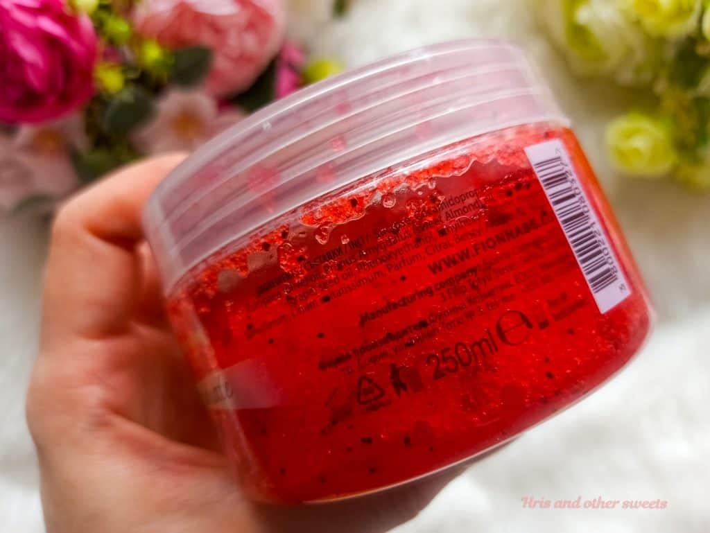 Фионна Козметикс захарен скраб за тяло с портокал и нар 3