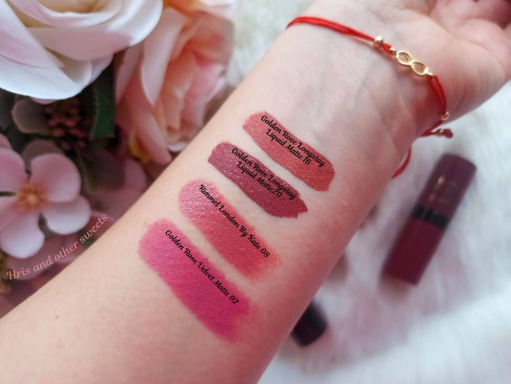 Swatches Lipsticks Golden Rose Rimmel by Kate